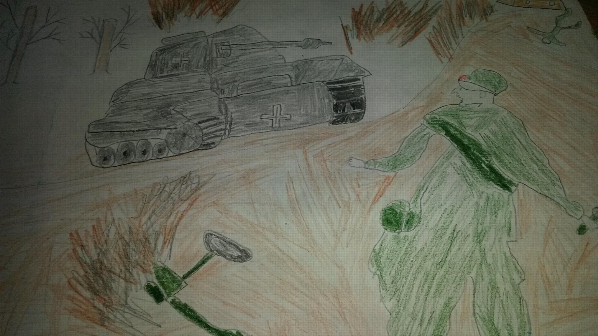 В Волгограде дети сотрудников транспортной полиции изобразили Победу