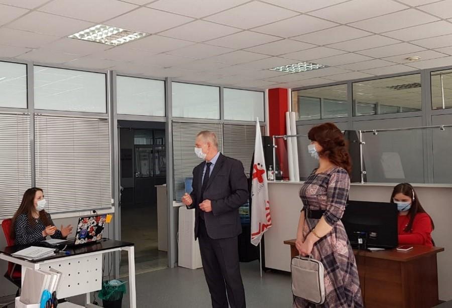 Волонтерский штаб акции #Мывместе посетил представитель главы Мордовии