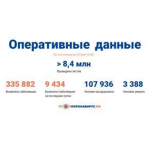 Covid-19: Оперативные данные по состоянию на 23 мая 10:35