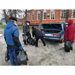 В Темниковский район Мордовии пенсионерам доставили продуктовые наборы