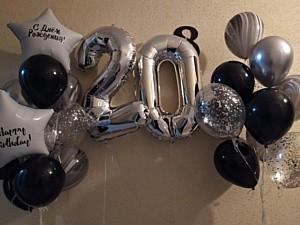 Шары с цифрой на день рождения