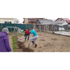 Волонтеры акции #МыВместе помогли пенсионерке вскопать огород