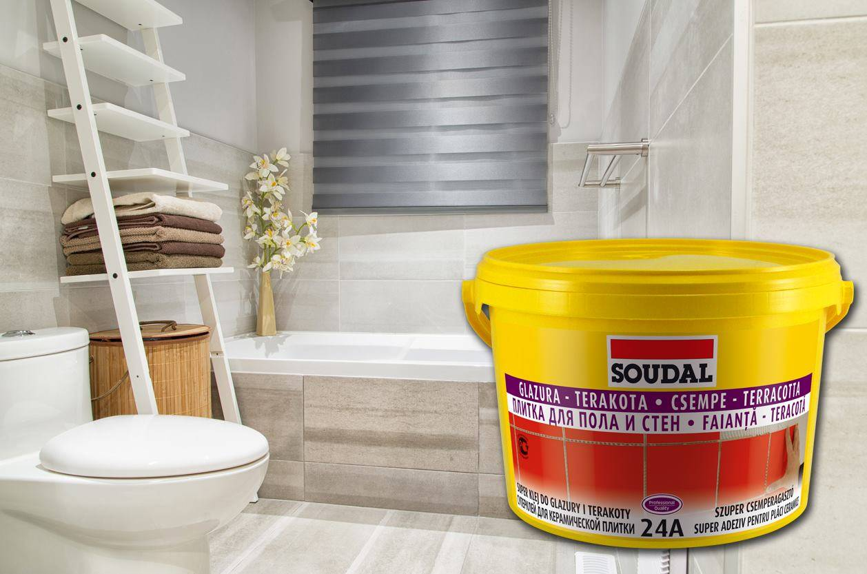 Ремонт в ванной и туалете с клеями от Soudal – легко и качественно!