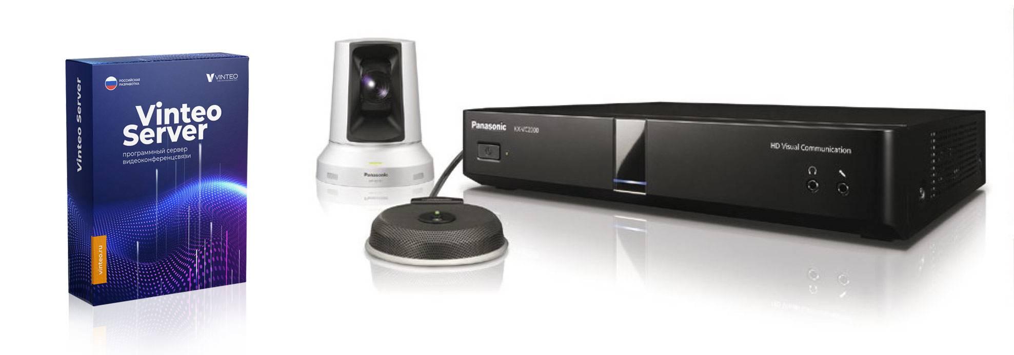 Совместное решение для видеоконференций Panasonic и Vinteo