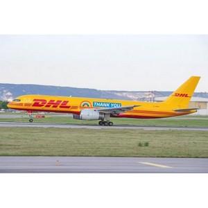 """DHL выражает благодарность надписью """"Thank You"""" на борту Boeing-757"""