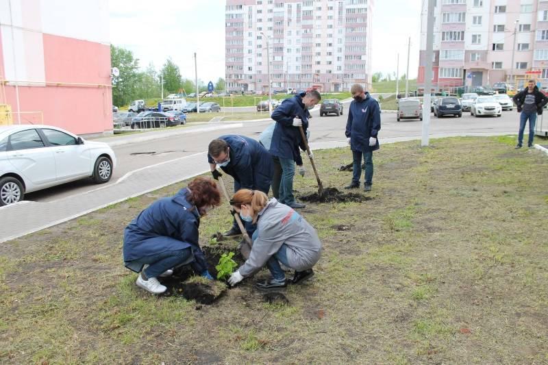 Активисты ОНФ в Мордовии высадили в Саранске клёны и кусты сирени