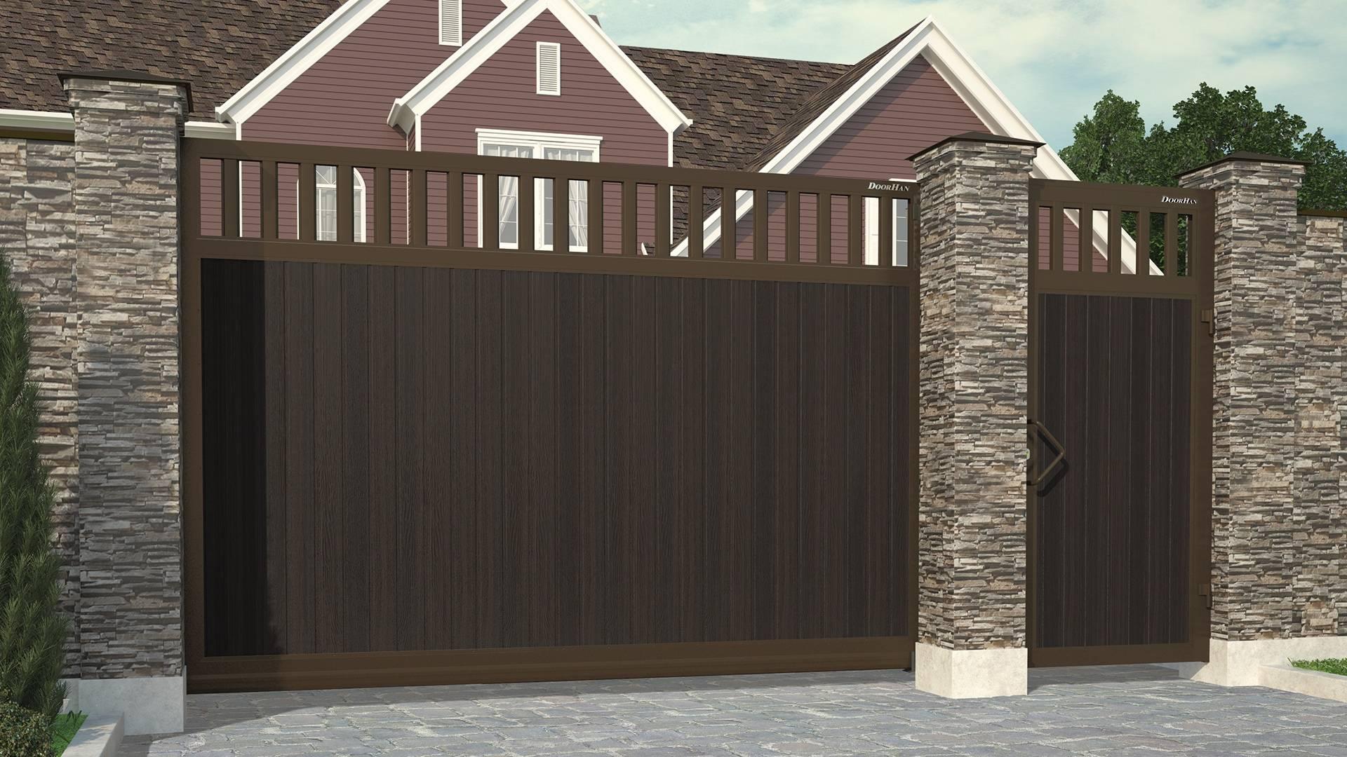 Дизайн откатных ворот: тренды 2020