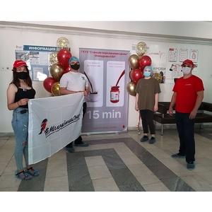 Команда «Молодежки ОНФ» в КБР сдала кровь в дни донорской недели