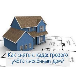 Как снять с кадастрового учета снесённый дом?