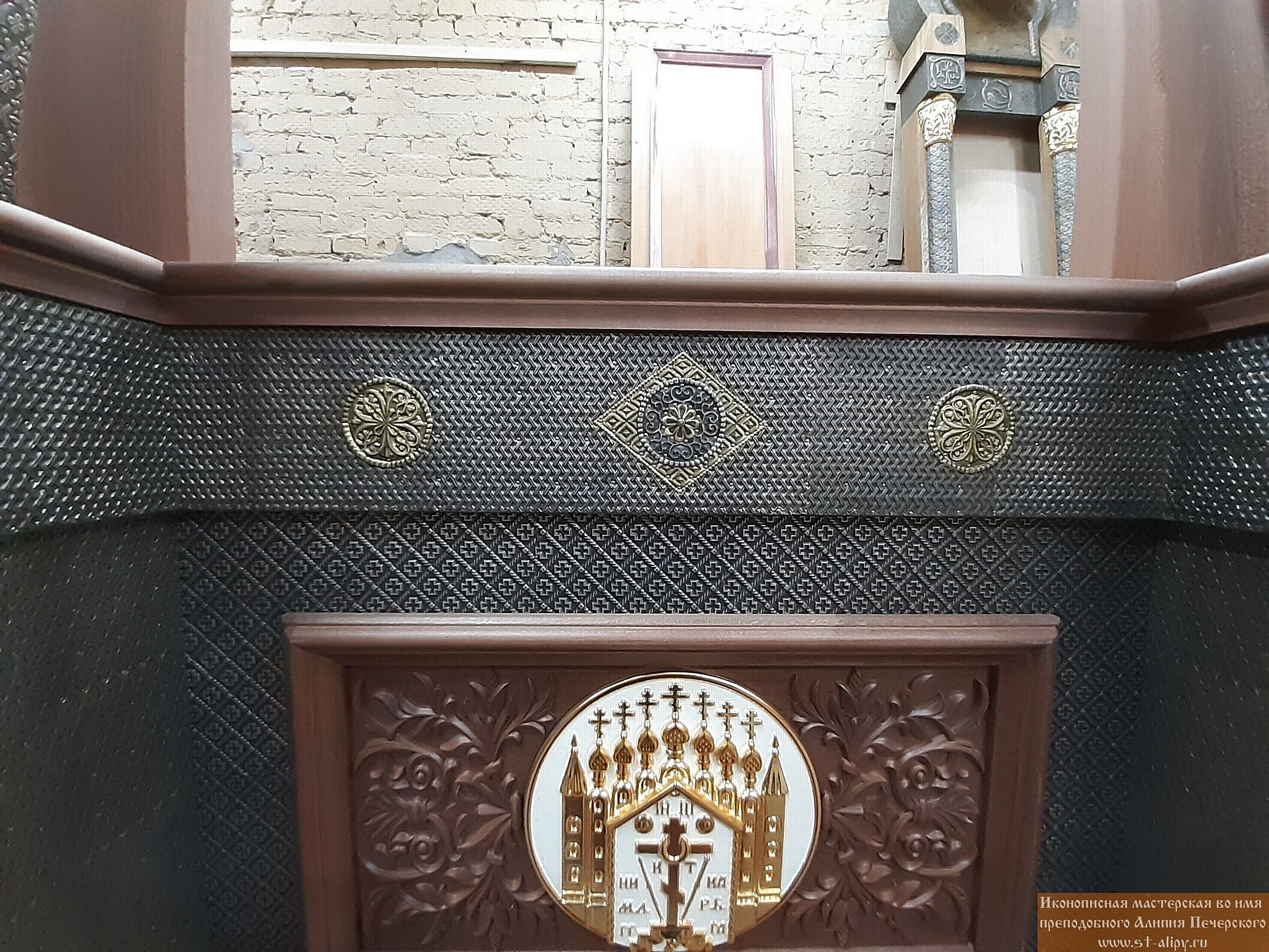Декоративное убранство главного храма войск национальной гвардии Российской Федерации