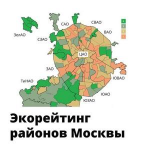Презентация нового экорейтинга районов Москвы