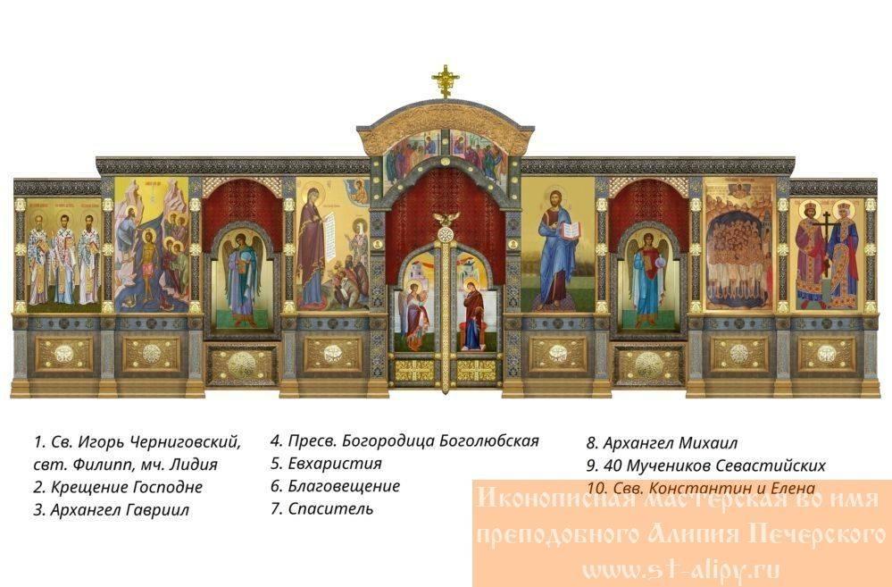 Проект иконостаса главного храма войск национальной гвардии Российской Федерации