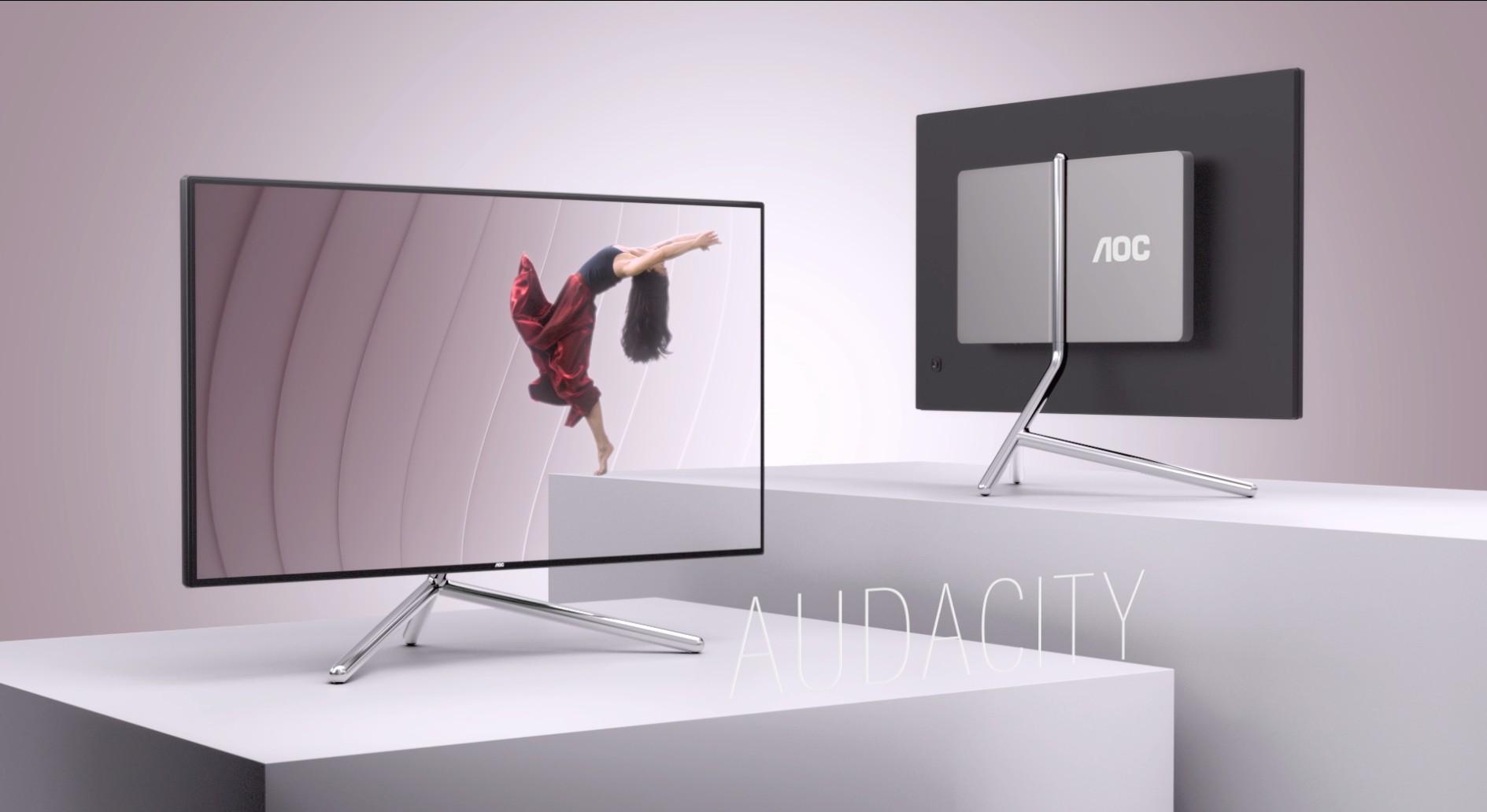 AOC и Studio F. A. Porsche выпустили премиальный дисплей U32U1