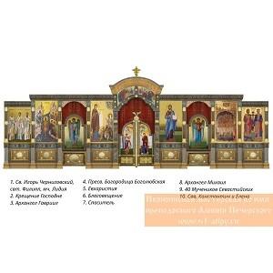 Завершён монтаж иконостаса в нижнем помещении храма Росгвардии