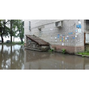 ОНФ призвал устранить дефект при благоустройстве двора в Воронеже