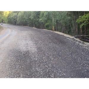 ОНФ в Коми помог укрепить участок после паводка на дороге к селу Носим