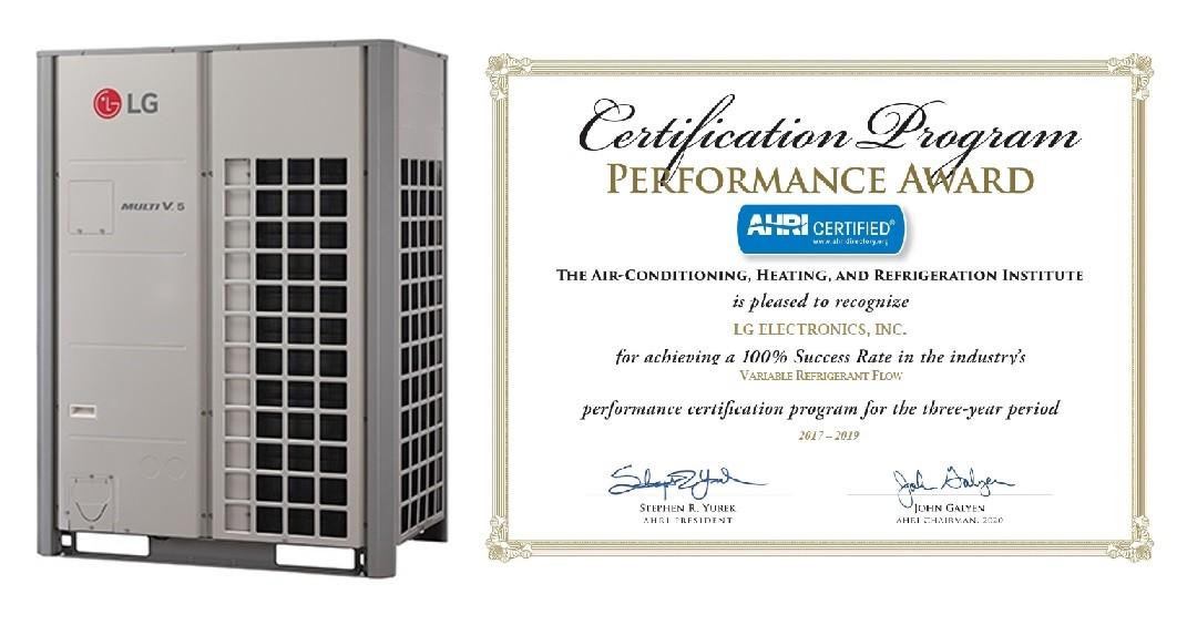 Профессионалы оценили LG и удостоили премии AHRI