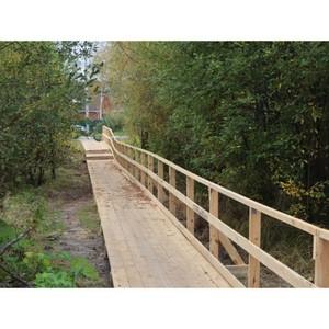 Благодаря ОНФ в Коми на опасном школьном маршруте построен мост
