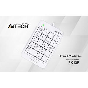 A4Tech представляет новый числовой блок A4 Fstyler FK13P в белом цвете