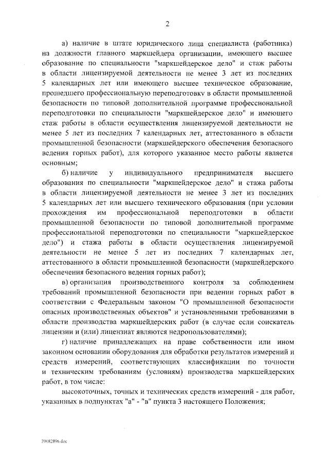 О лицензировании производства маркшейдерских работ