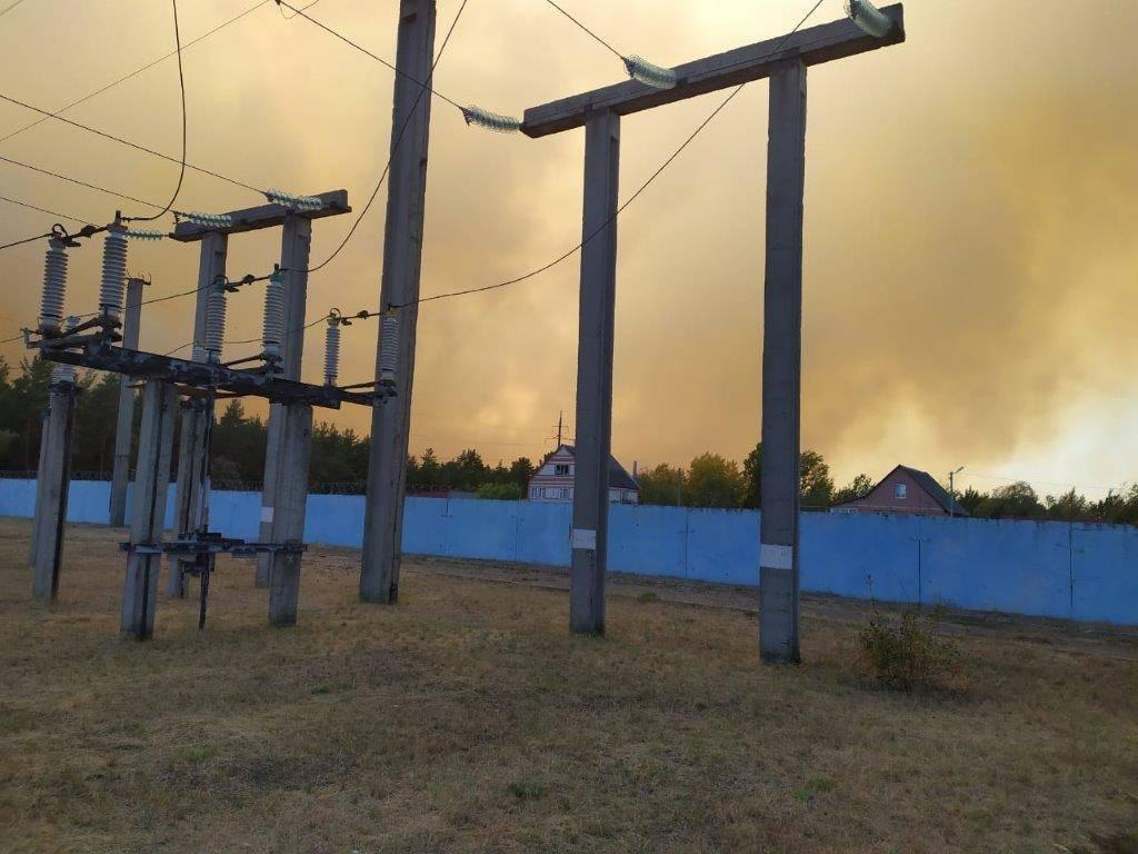 Борисоглебские энергетики обеспечили безопасность при ликвидации огня