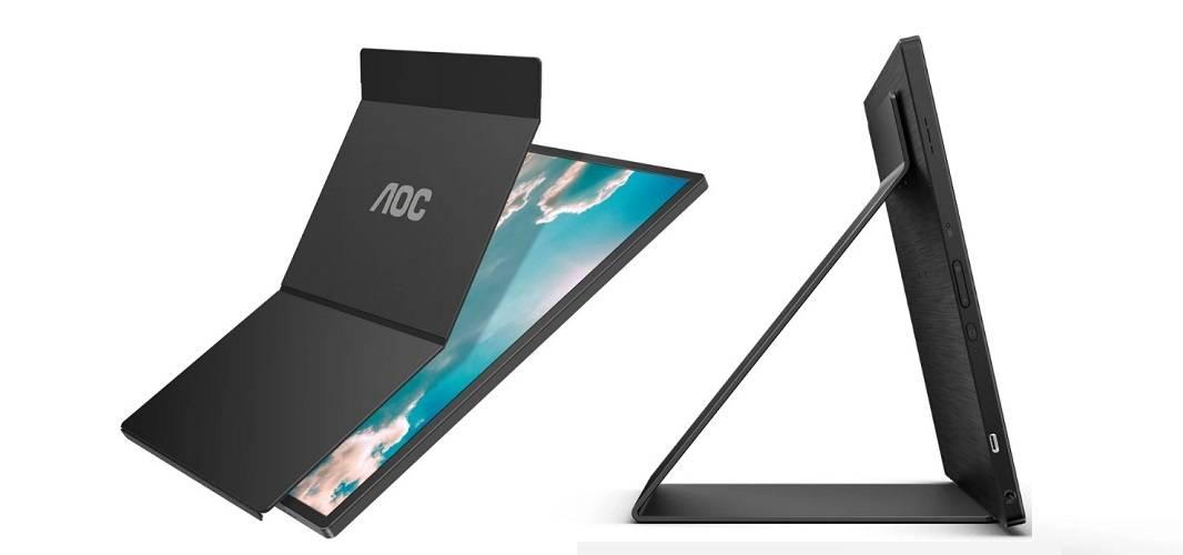 AOC объявляет о выпуске 16T2 – нового портативного сенсорного дисплея