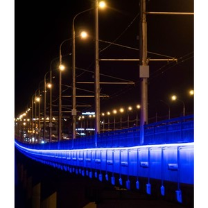 Калугаэнерго украсил иллюминацией Гагаринский мост в Калуге