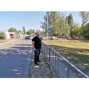 По сигналу ОНФ в Новой Усмани отремонтировали островки безопасности