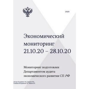 Экономический мониторинг. 21 – 28 октября 2020 года