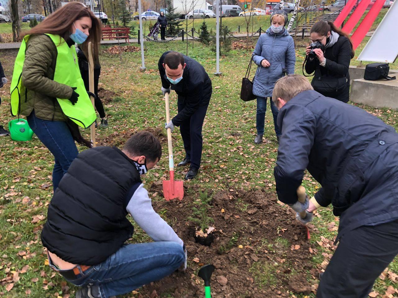 На «Лобненском рубеже» высадили памятную аллею в честь 75-летия Победы
