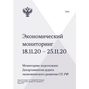 """Национальное деловое партнерство """"Альянс Медиа"""". Экономический мониторинг. 18-25 ноября 2020 года"""
