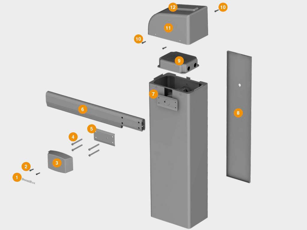 Конструкция шлагбаума Barrier-PRO