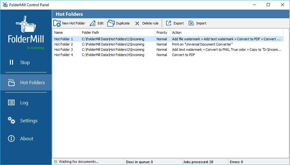 FolderMill 4.8: управление воспроизведением цвета, создание или сохранение закладок в PDF и не только