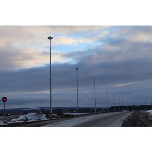 Удмуртэнерго выполняет работы по подключению освещения автодорог