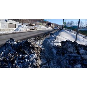 Активисты ОНФ проинформировали власти о проблемах снегоочистки улиц