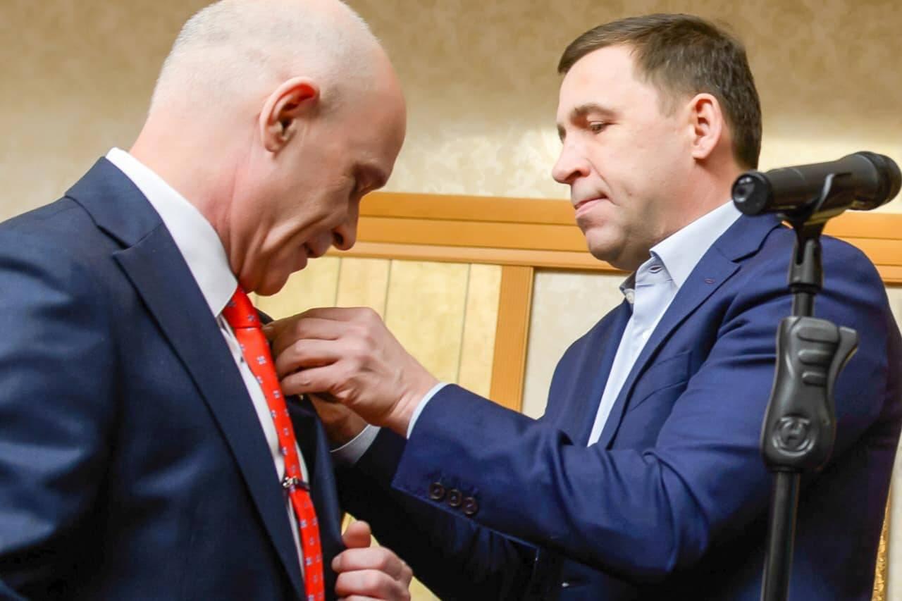 Президенту Уральской ТПП Андрею Беседину вручена высокая награда