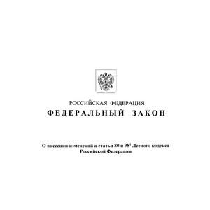 В статьи 80 и 98.1 Лесного кодекса внесены изменения