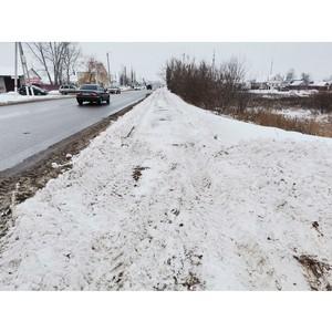 Активисты ОНФ призвали власти восстановить тротуар в Новой Усмани