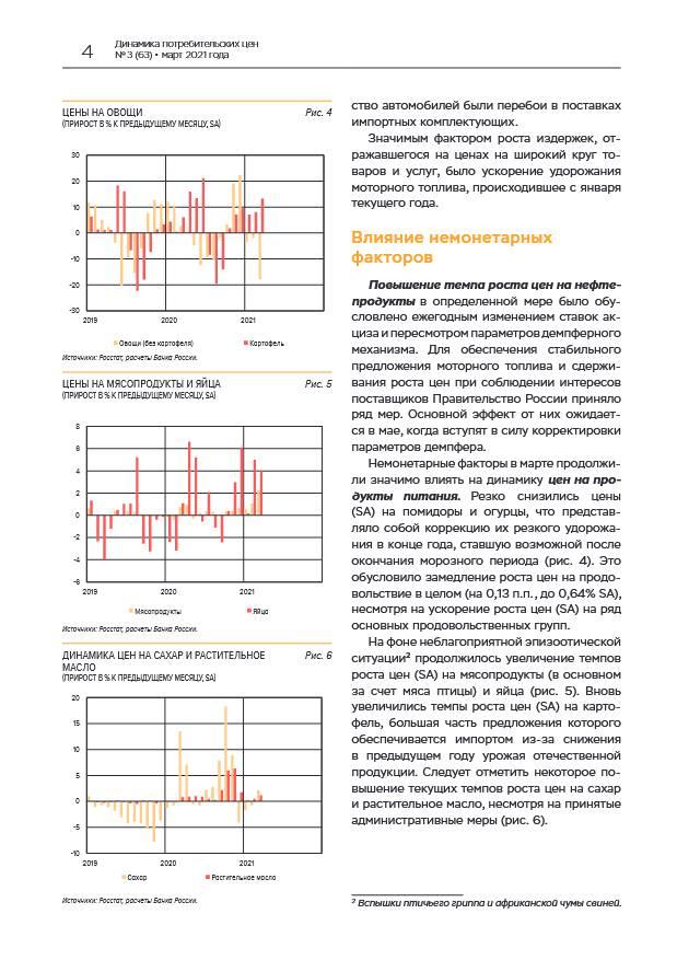 Годовая инфляция в марте увеличилась под влиянием спроса и издержек