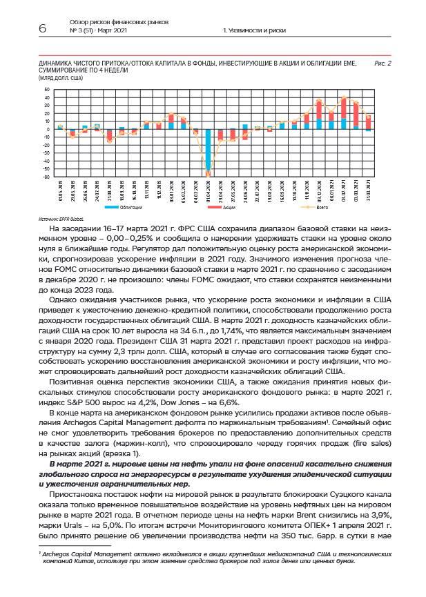 Ситуация на формирующихся рынках в марте оставалась стабильной
