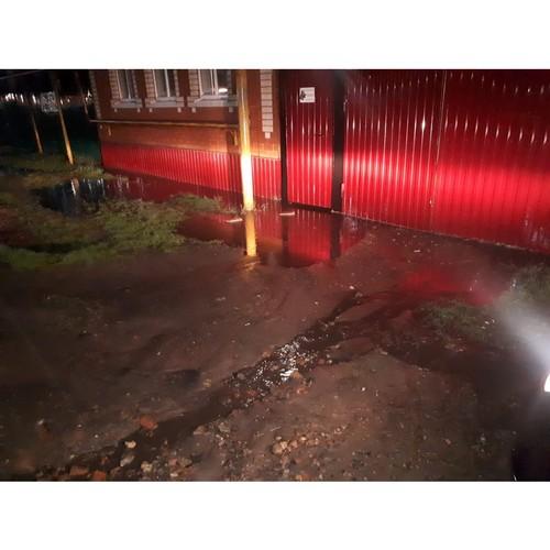 В Россоши частные дома оказались в зоне подтопления из-за новой улицы