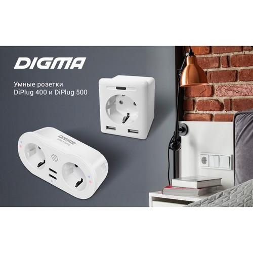 Новые розетки DiPlug 400 и DiPlug 500 от Digma