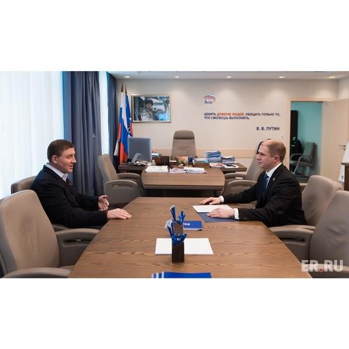 Андрей Турчак и Михаил Романов обсудили  работы в Санкт-Петербурге