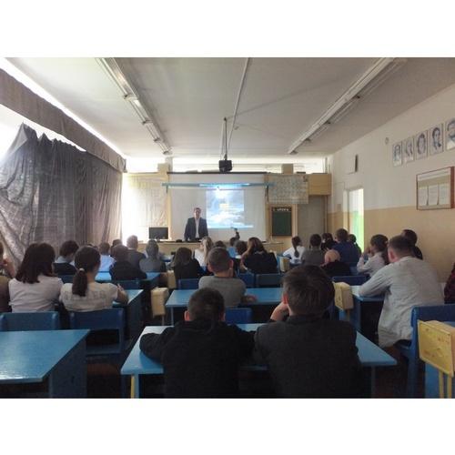 Учащиеся Калеевской СОШ посетили урок электробезопасности Мариэнерго