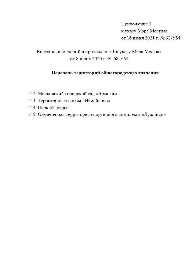 Мэр Москвы внес изменения в указ № 68-УМ