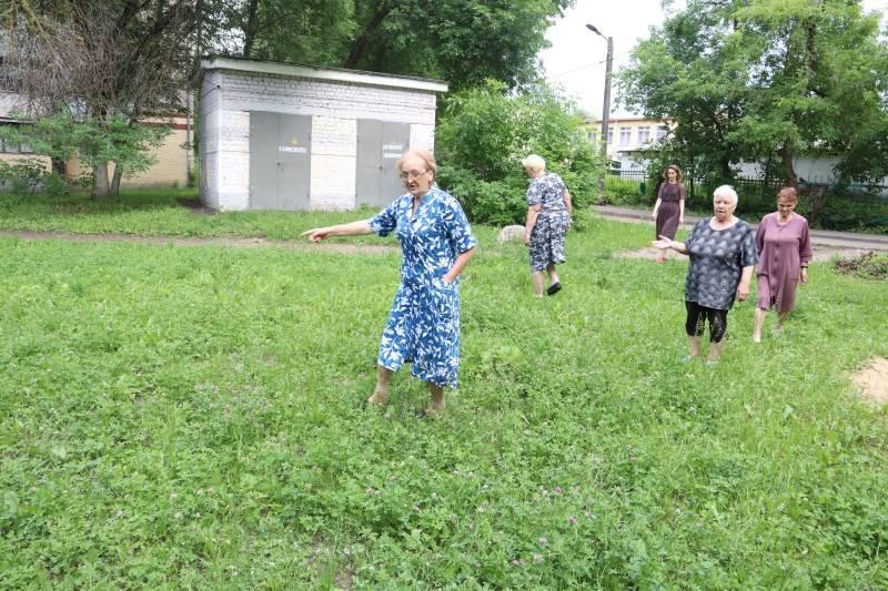 Двор в Саранске отремонтировали и оставили без бельевой площадки
