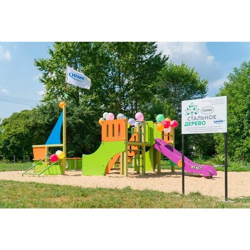 «Стальное дерево» помогло открыть детскую площадку в Калужской области