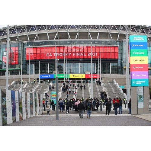 Новый яркий светодиодный дисплей LG на лондонском стадионе «Уэмбли»