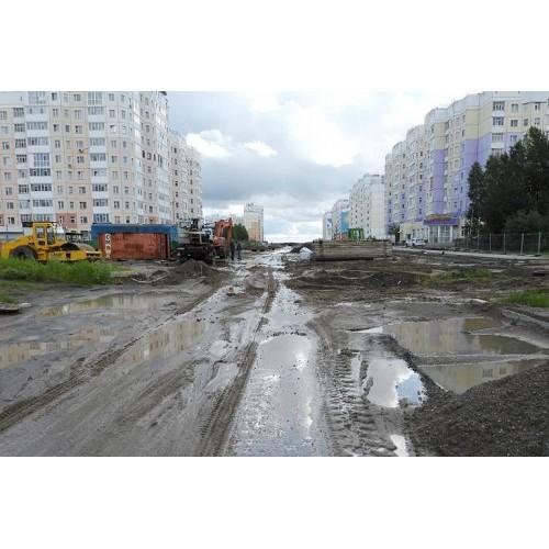 Строительство дорог в новых микрорайонах Нижневартовска продолжается