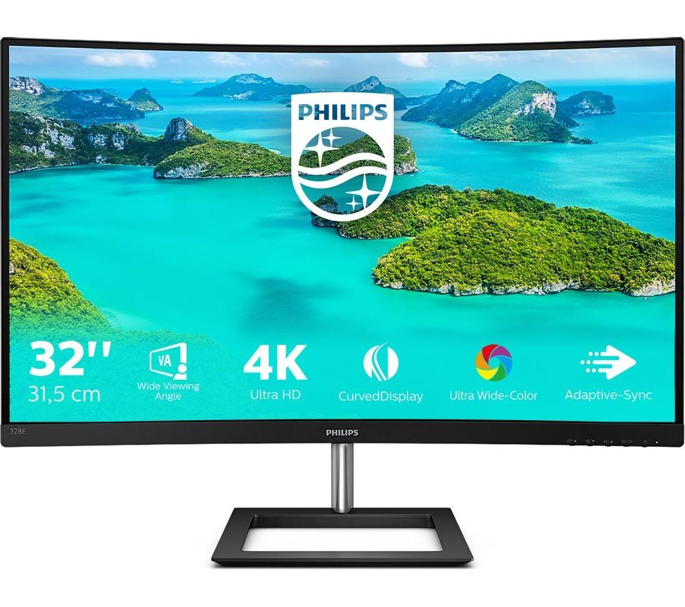 Обзор изогнутого и технологичного UHD-монитора Philips 328E1CA
